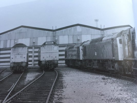 Access 'roads' into the Depot from the South, with one of the Depot Shunters, No 08703, (extr...jpeg